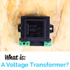 Small black voltage transformer